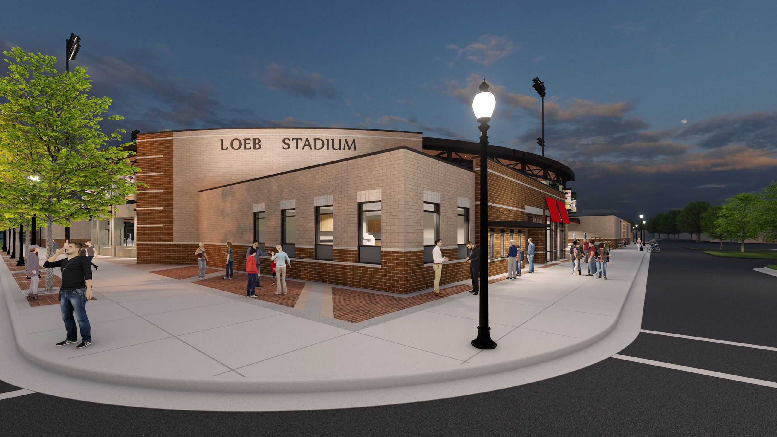 Artist Rendering of Loeb Stadium - Exterior View - Ticket Windows