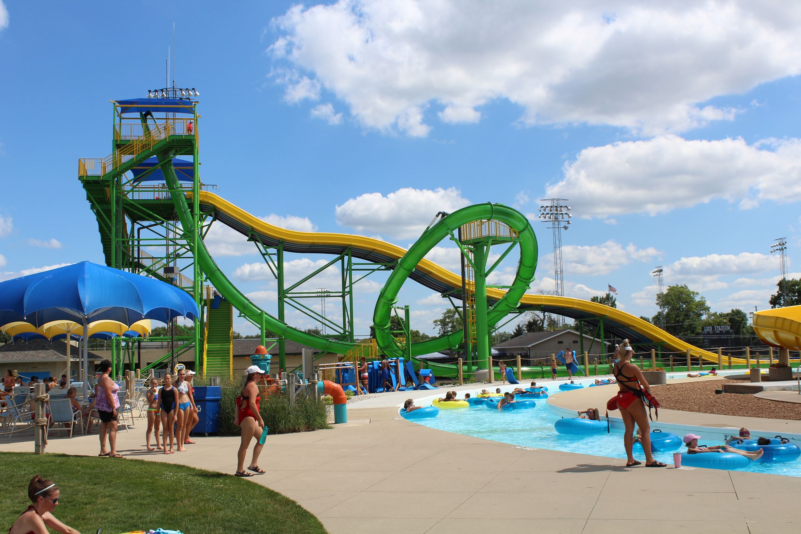 Water Slides at Tropicanoe Cove