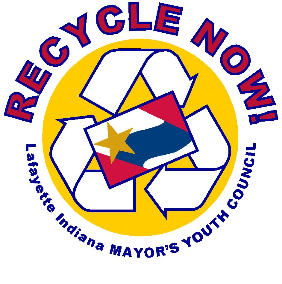 Recycle Now - Lafayette Indiana Mayor&#39s Youth Council Logo
