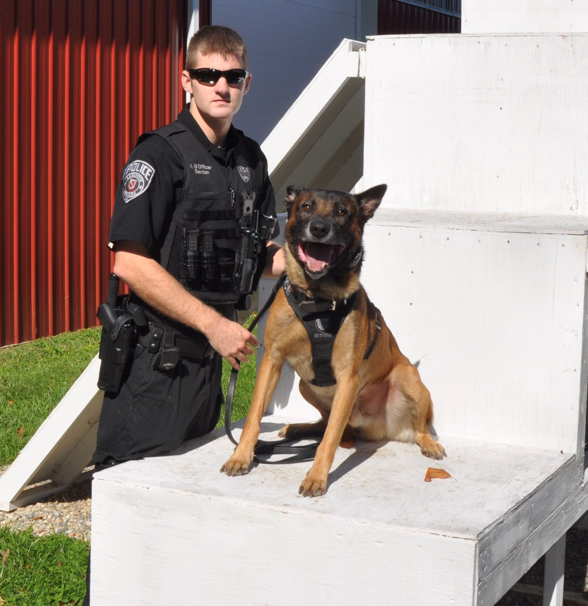 Officer Saxton and K9 Boyka 2017