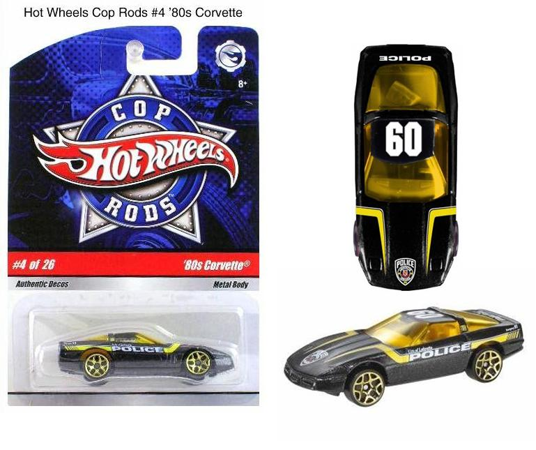 Hot Wheels Cop Rods Number 4 1980s Corvette Collage