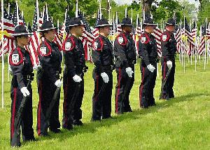 Healing Field Ceremony Officers in Uniform, May 21, 2005