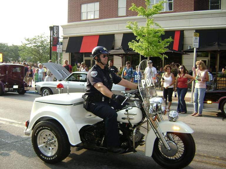 Police Officer Riding the 1969 Harley Davidson Pol