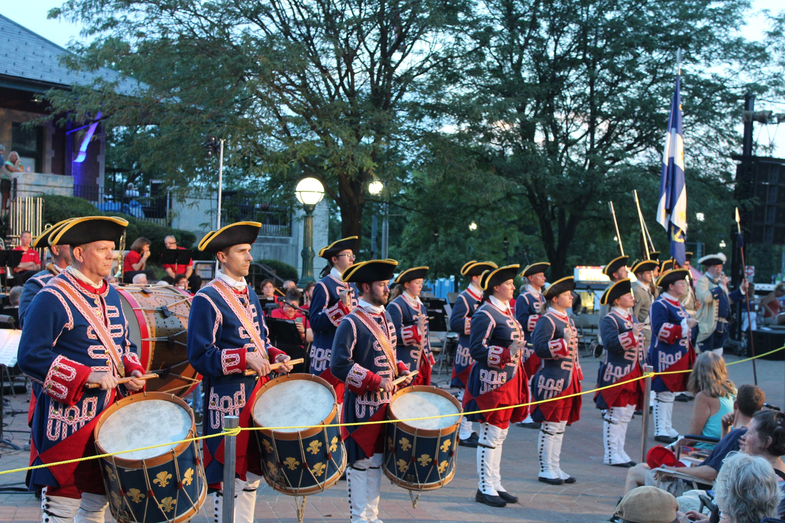 Voyageurs Drum & Fife Corps at Riehle Plaza