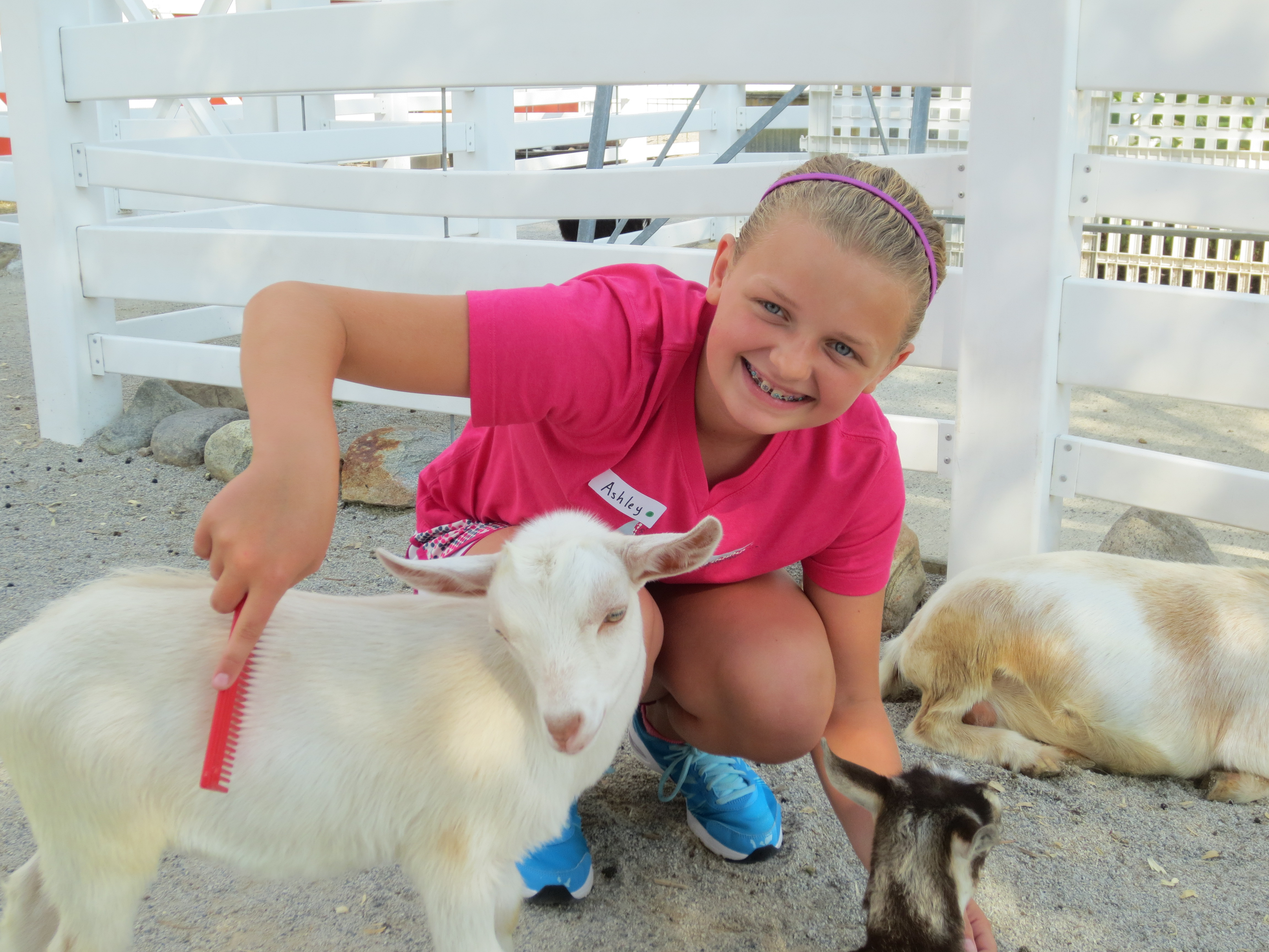 Ashley sure does love our goats!